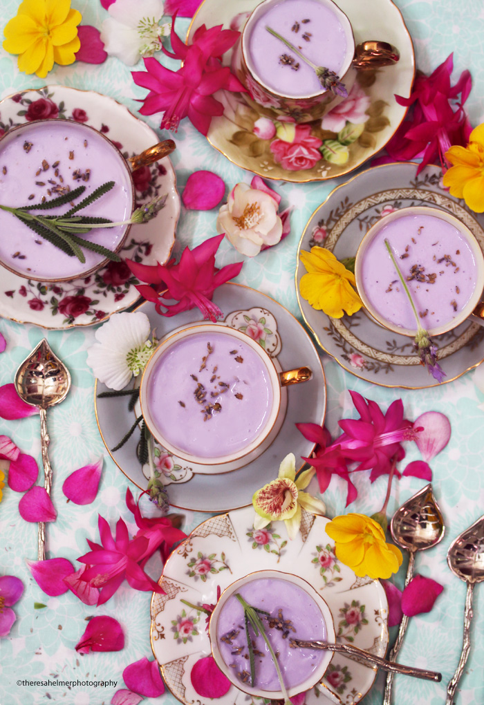 White Chocolate with Lavender Mousse by theresahelmer