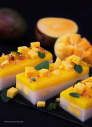Delicious. Mango. Panna Cotta. by theresahelmer
