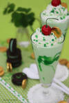 Shamrock Shake served with Mint Oreo Cookies