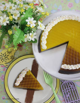Lemon Cheesecake with A Touch of Chocolate