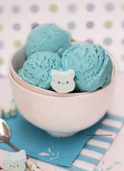 Tiffany Blue Cotton Candy Ice Cream by theresahelmer