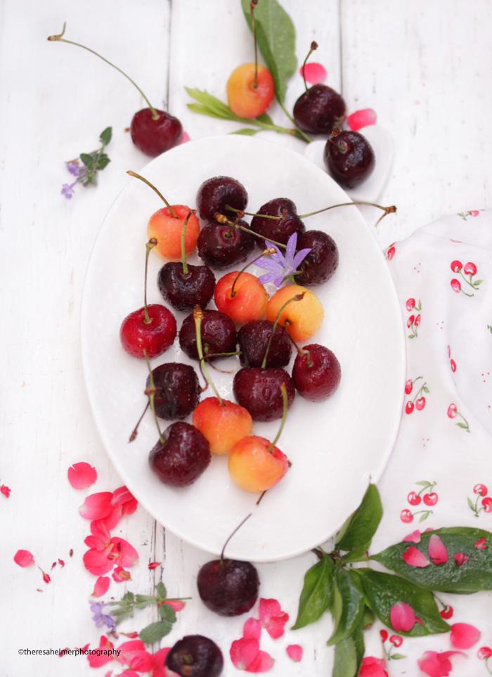 Summer. Cherries. Afternoon Munchies. Sweet by theresahelmer