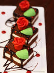 Chocolate Cream Cheese Layered Cake
