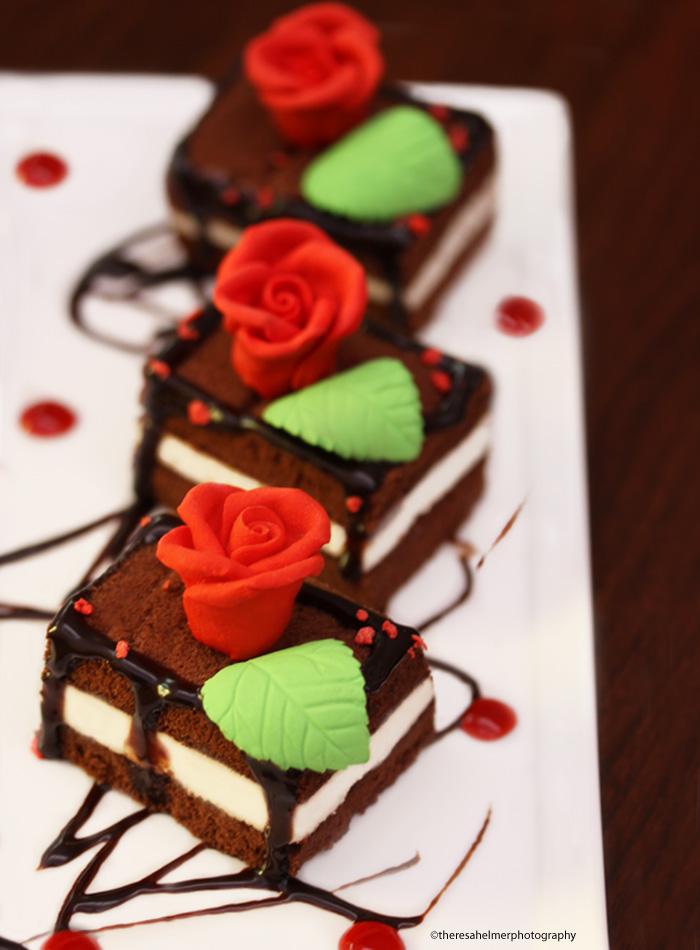 Chocolate Cream Cheese Layered Cake by theresahelmer