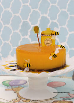 Honey Passion Fruit Custard Cake