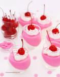 Pink Bubblegum Panna Cotta