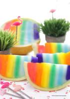 Rainbow Honeydew Melon Slices by theresahelmer