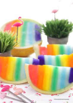 Rainbow Honeydew Melon Slices