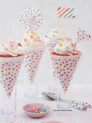 Red Velvet Cake Cones