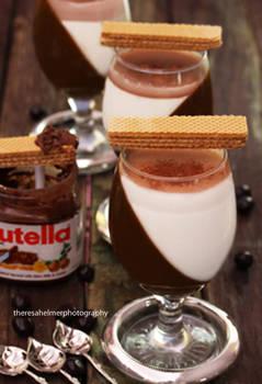 Nutella and Vanilla Bean Panna Cotta