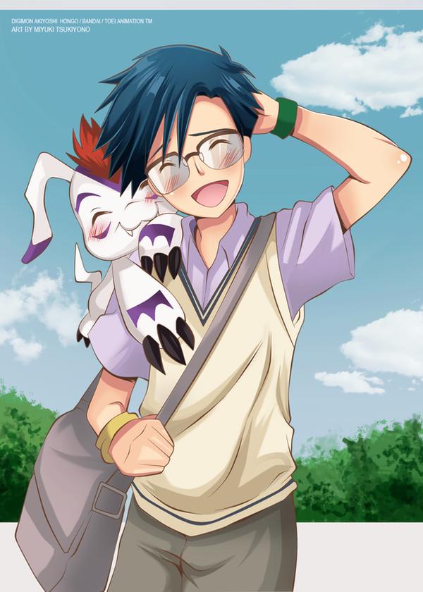 Digimon_Joe_and_goma_cute by Miyuki-Tsukiyono