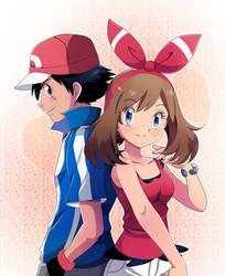 Ash___And___May___Kalos_ORAS/ROZAVer by Miyuki-Tsukiyono