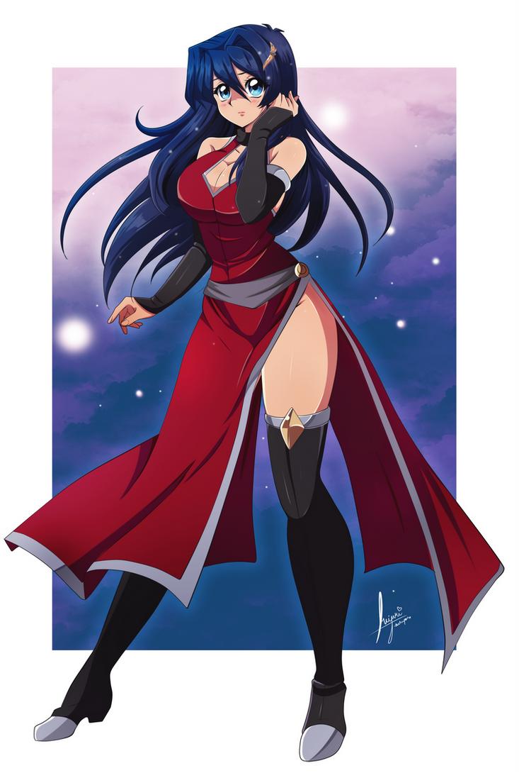YGO_oc_Yukime_Red_Dress by Miyuki-Tsukiyono