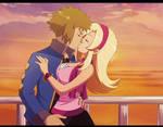 Pokemon_Kiss_on_Vista_Lighthouse by Miyuki-Tsukiyono