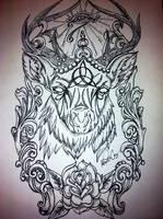 Stag Triquetra by underlineage-designs