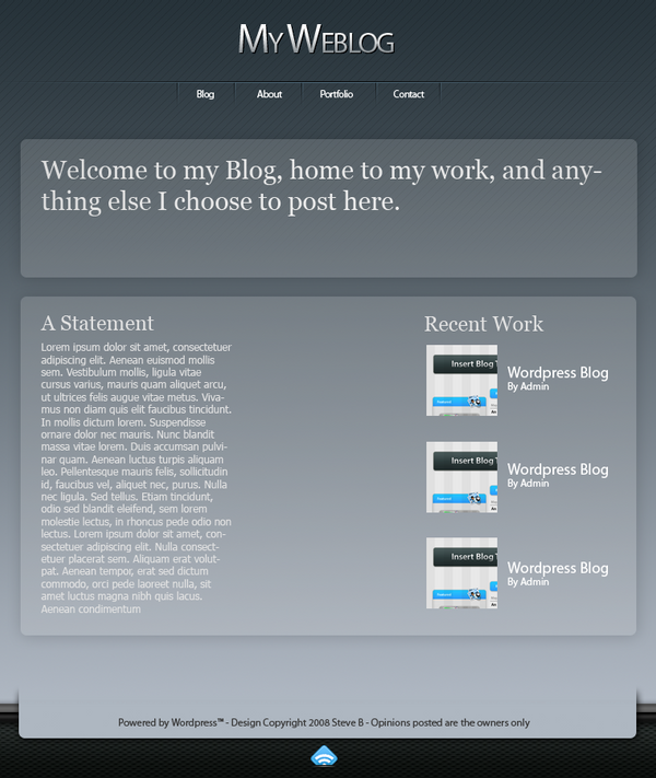 Wordpress Theme 2 by Chasethebase