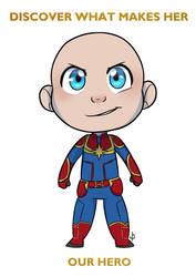 COMM CHIBI: Captain Baby Marvel for lalor