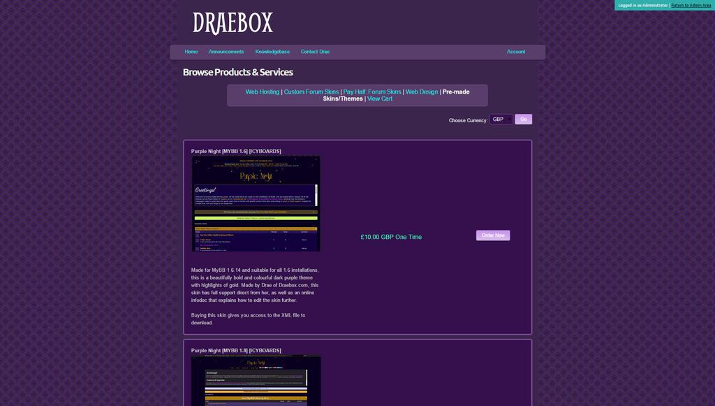 WHMCS Web20cart by Draebox