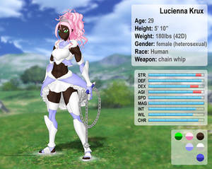 Lucienna Krux character sheet