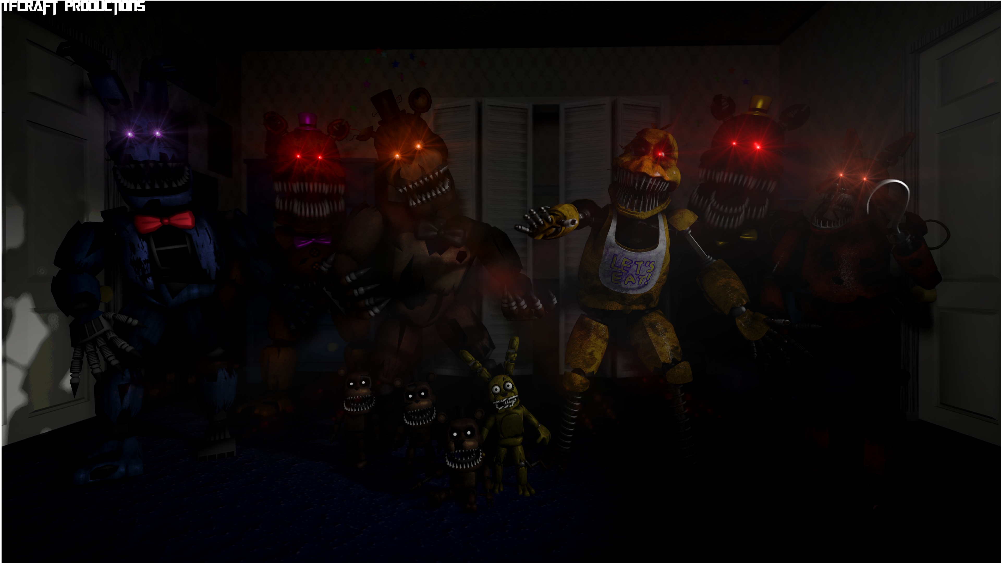 Five Nights at Freddy's 4 - The Gang's All Here by TF541Productions