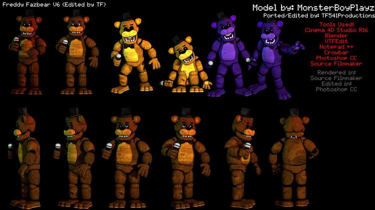Freddy Fazbear Model Showcase by TF541Productions