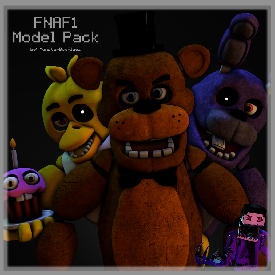 FNAF1 Model Pack by MonsterboyPlayz is now on SFM! by TF541Productions