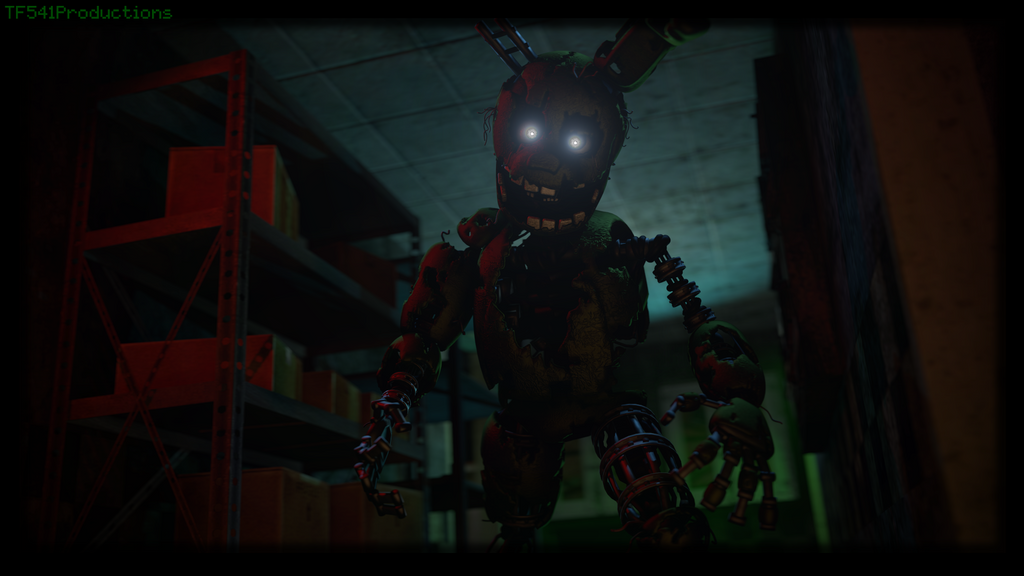 Ignited Springtrap Render by TF541Productions