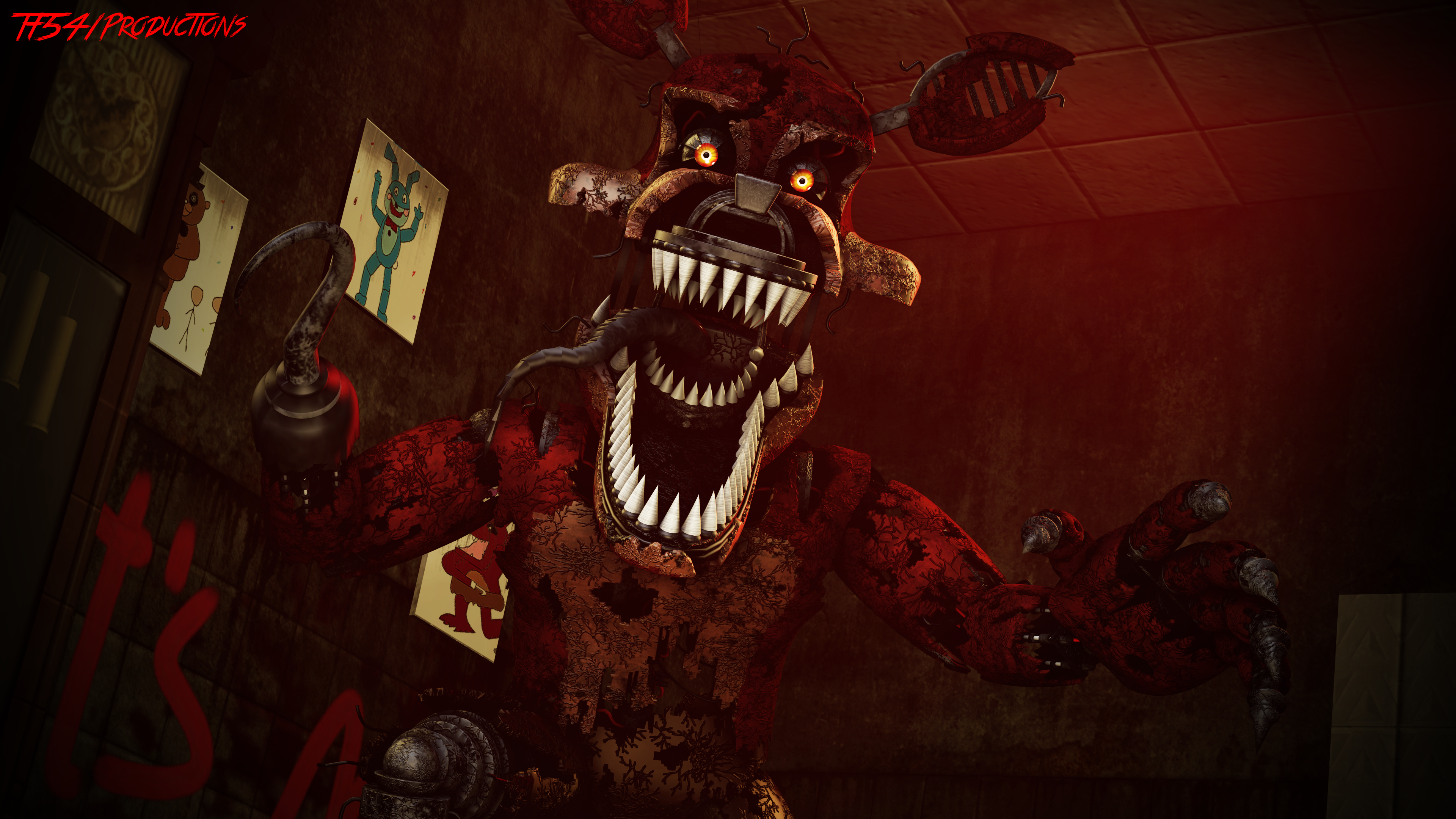 Nightmare Foxy v3 (By: HectorMKG) by TF541Productions