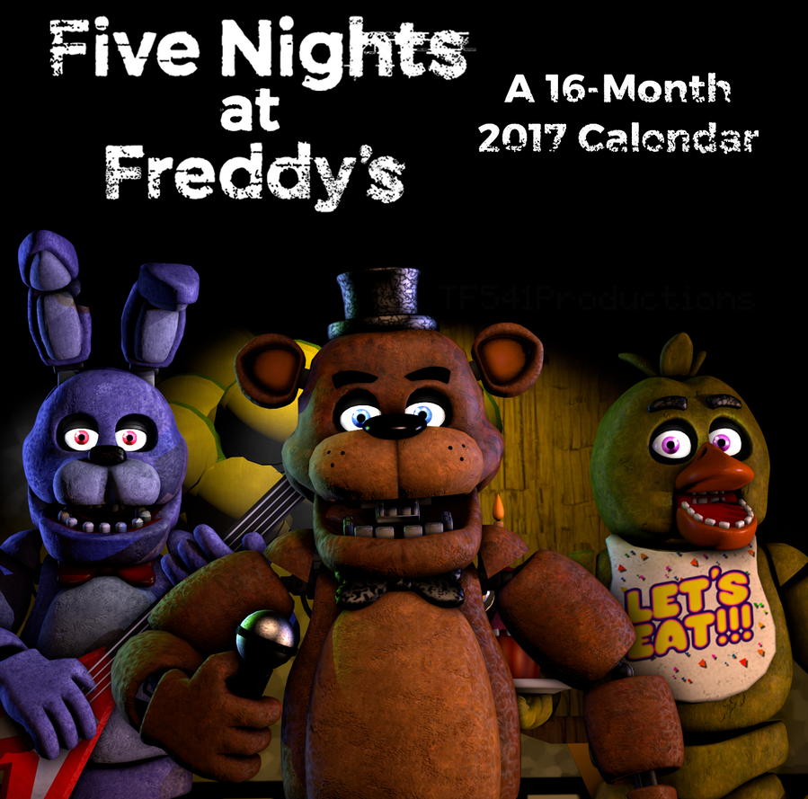 FNAF Calendar Recreation by TF541Productions