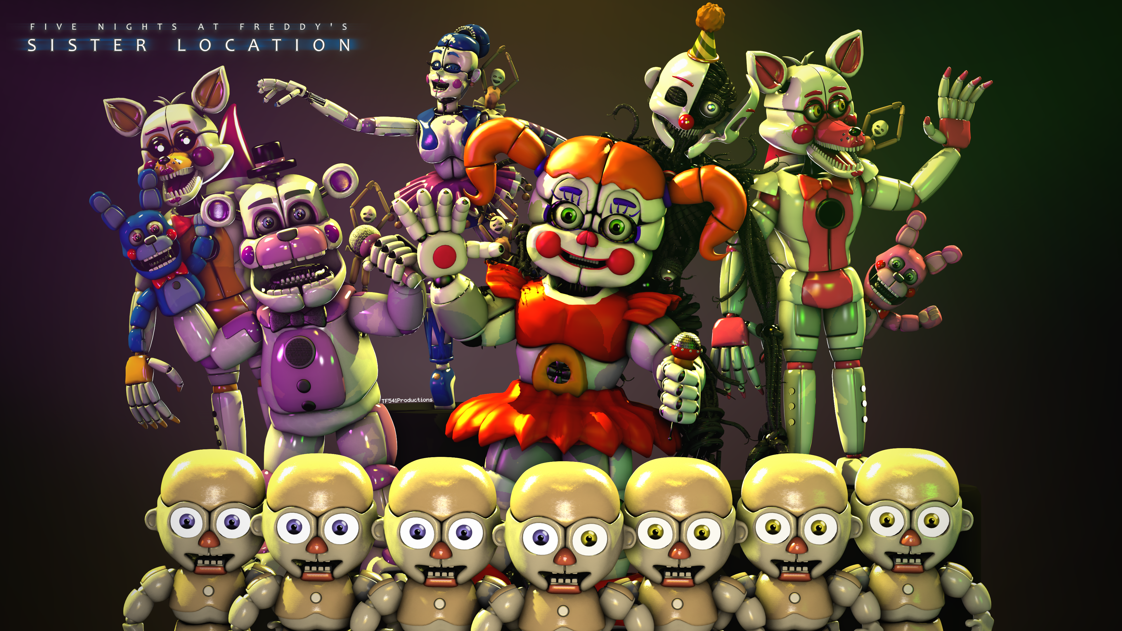 Sister Location Group Photo by TF541Productions