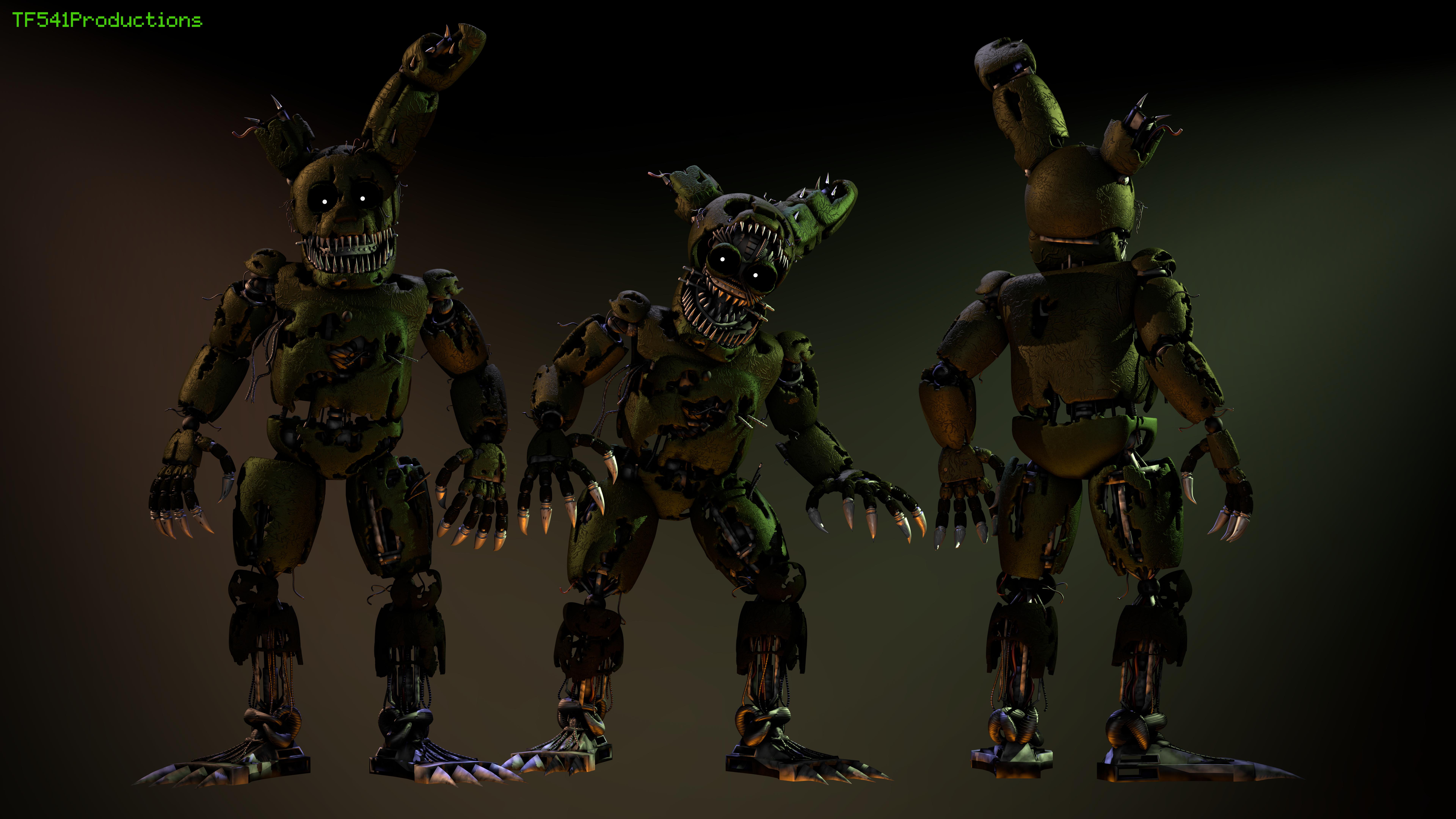[8k] Nightmare Springtrap v2 Full Body by TF541Productions