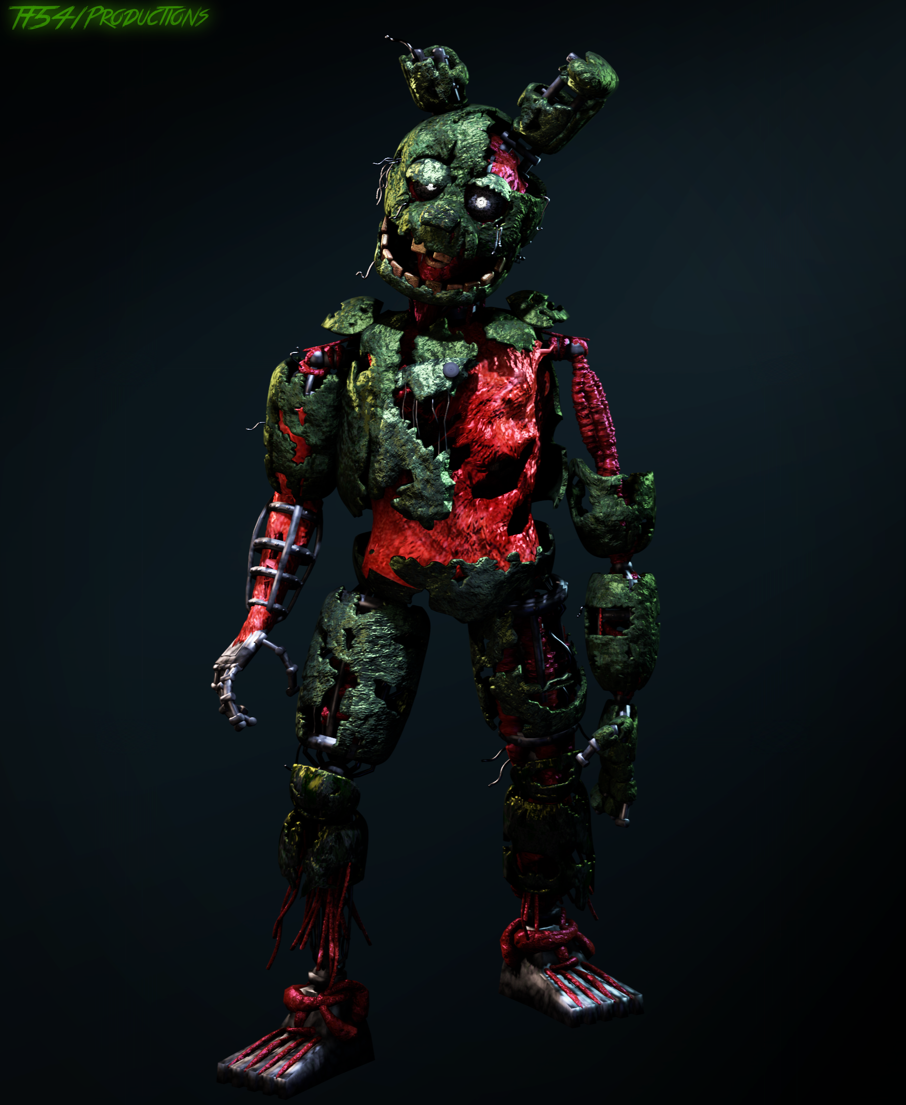 Decayed Springtrap by TF541Productions