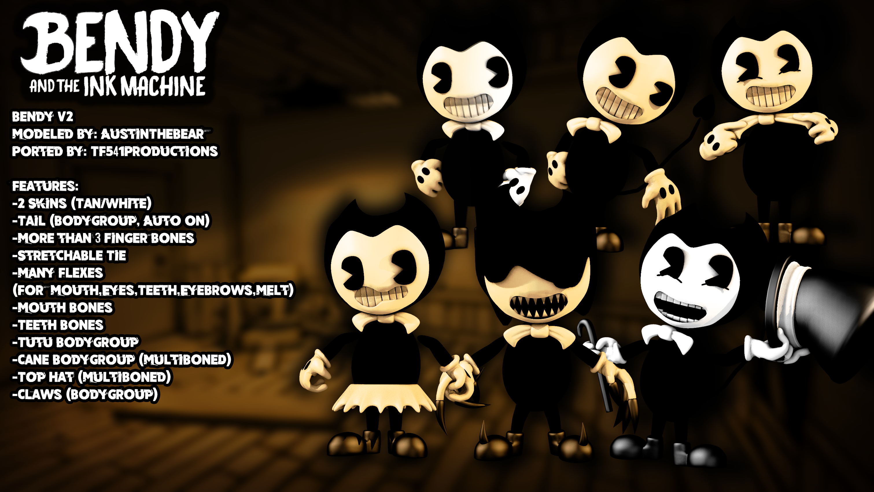 Bendy and The Ink Machine - Bendy v2 Showcase by TF541Productions