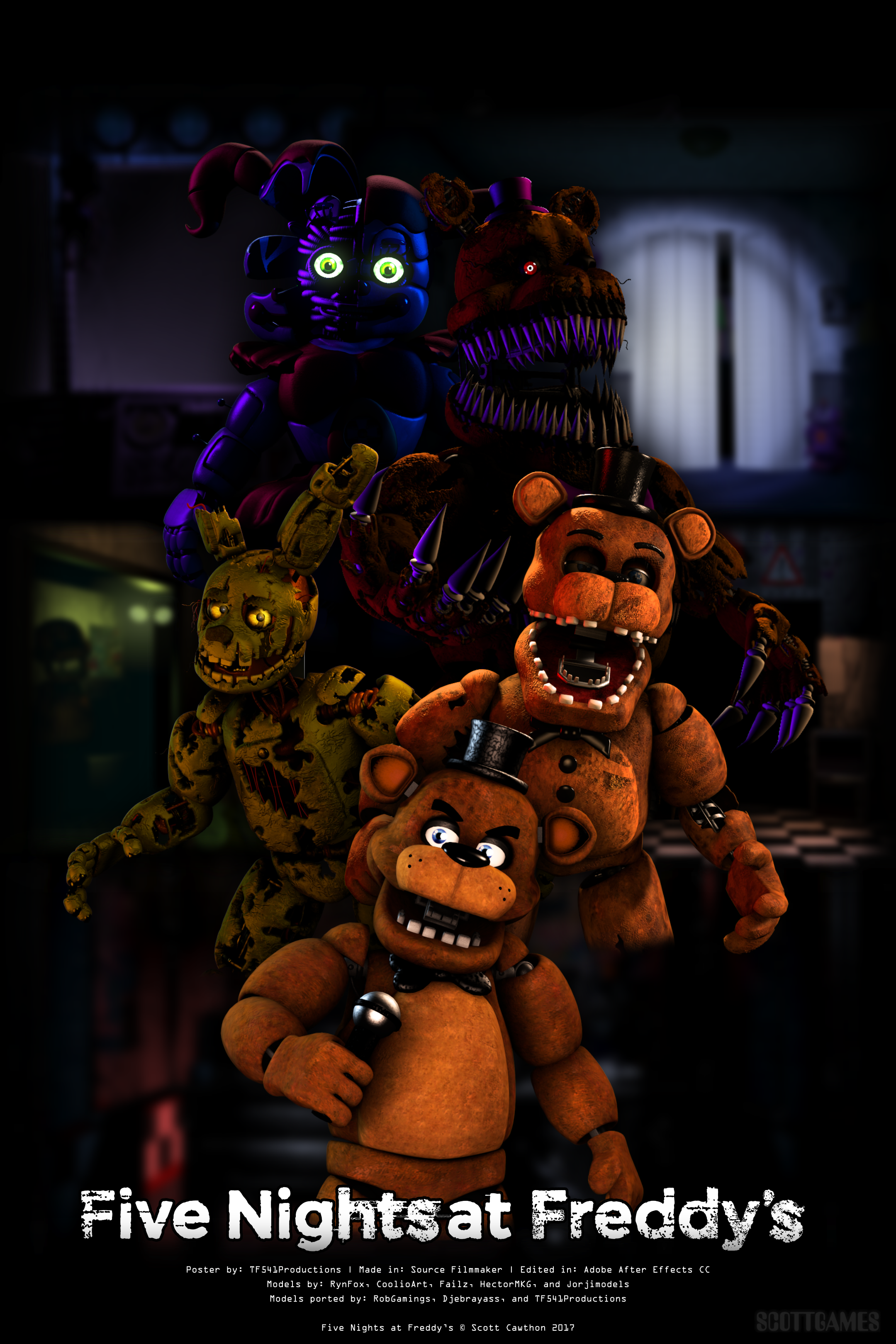 Fnaf Franchise Poster By Tf541productions On Deviantart