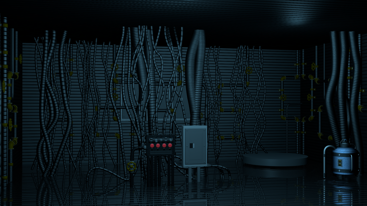 [BLENDER] FNaF: SL Breaker Room WIP by TF541Productions