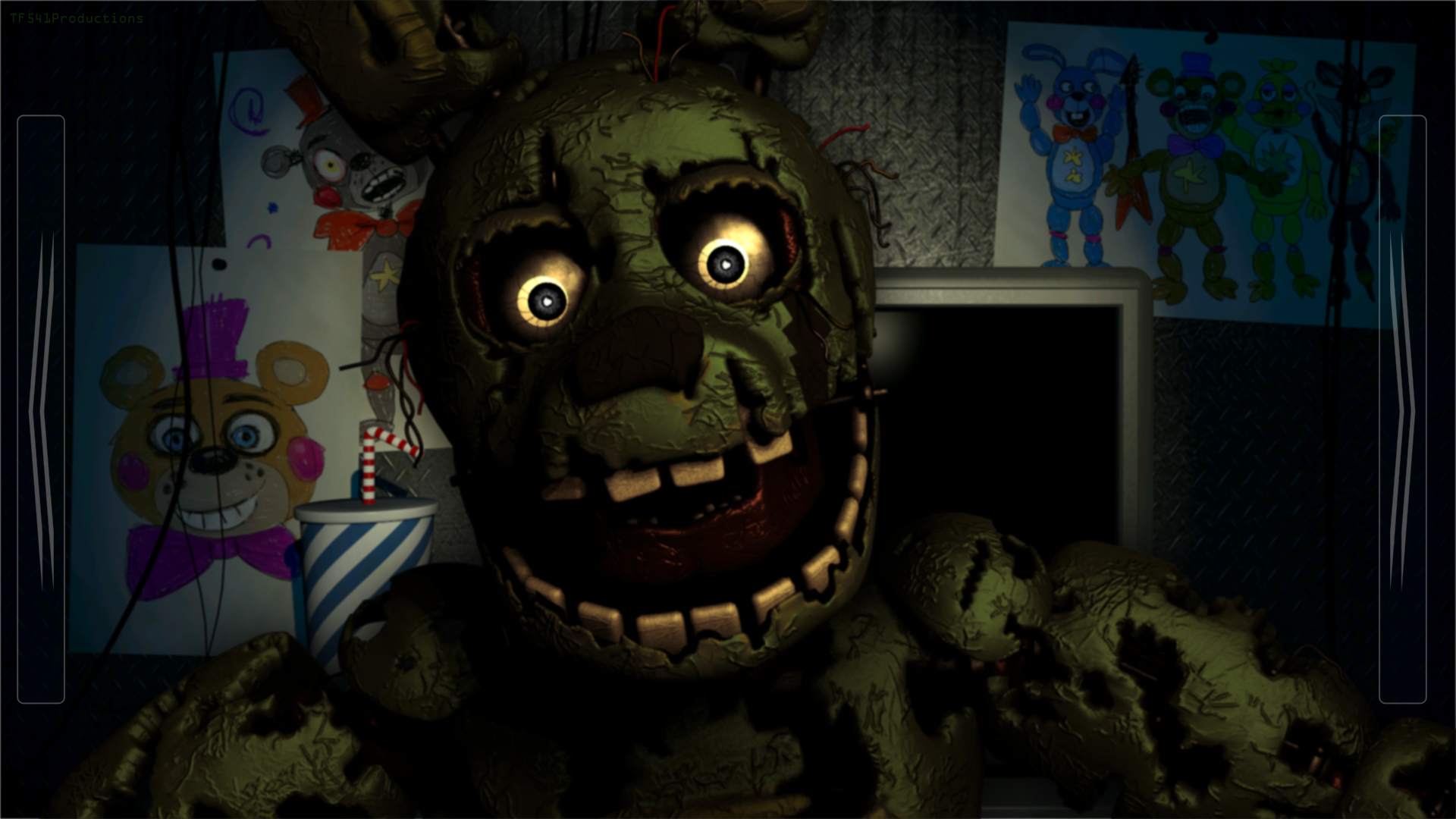 Dark Springtrap in FNaF: Pizzeria Simulator by TF541Productions