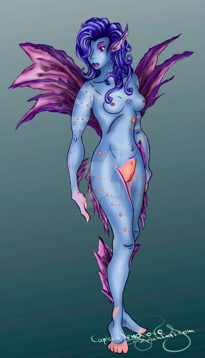 Female Alien Concept - remake from 2011 by CaptainXenolove
