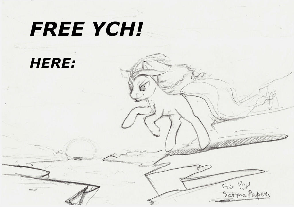 FREE pony YCH! Closed. by SatynaPaper