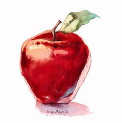Watercolour apple