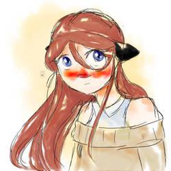 Watercolor Meg by HaazelNut