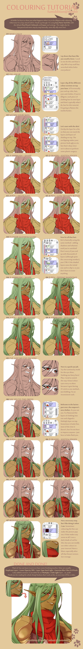 Tutorial: Step by Step Colours by tofumi
