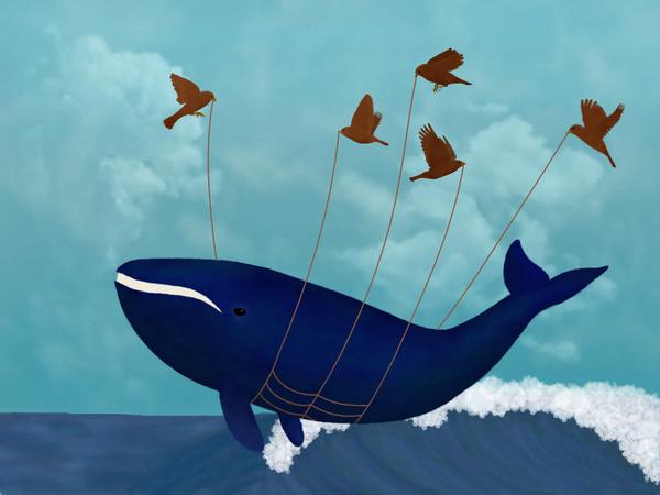 The whale that faileth by diamondie