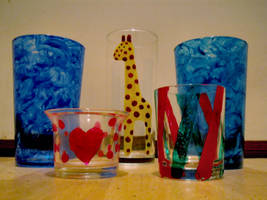 Painted glasses by diamondie