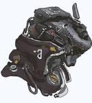 MEch head - robotic helmet