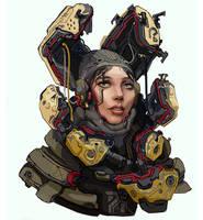 Scifi cybergirl by Bulygin