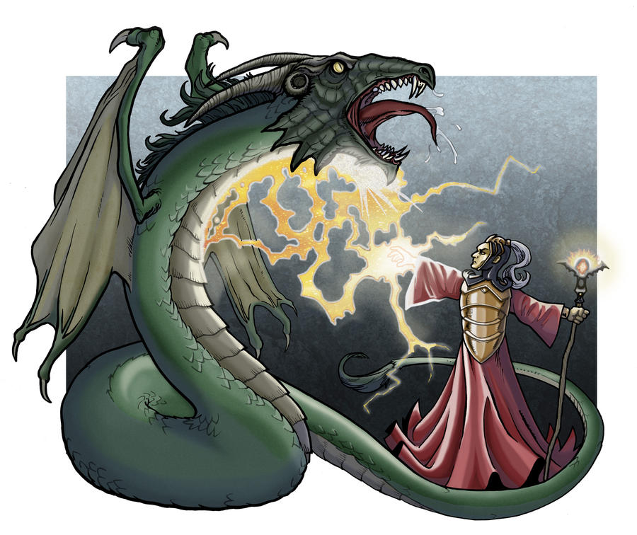 Wizard vs Dragon from Dark City Games by Kminor on DeviantArt