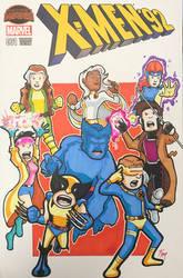 X-Men 92 Sketch Cover