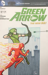 Green Arrow and The Flash Sketch Cover