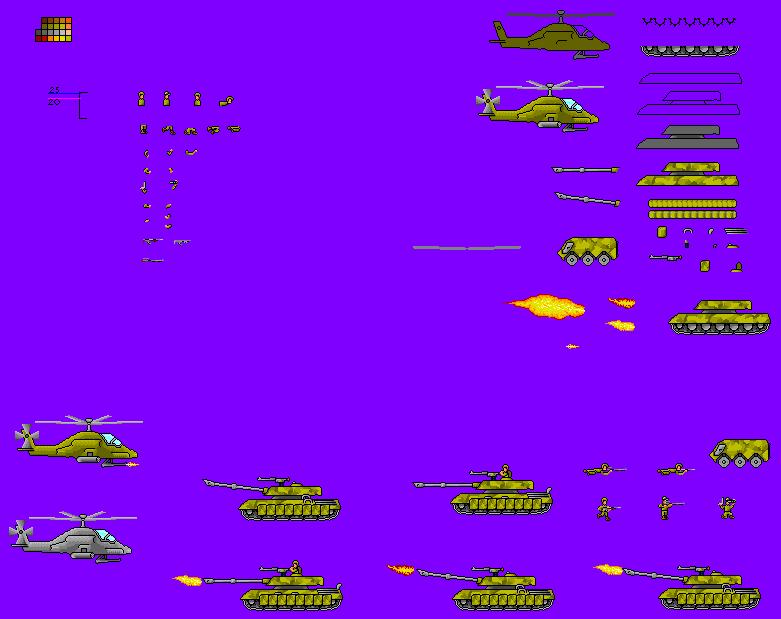 Army Soldiers Sprite Sheet 3