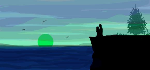 Foggy Night by the Sea by jaladams
